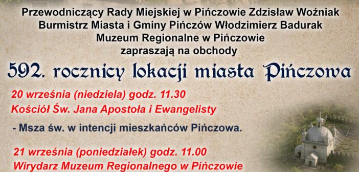 592. rocznica lokacji Pińczowa