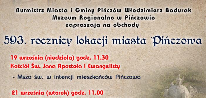 593. rocznica lokacji miasta Pińczowa