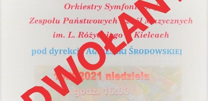 Koncert odwołany !!!
